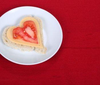 walentynkowa kanapka, kanapka na Dzień Matki