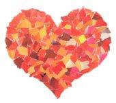 Serce z papieru wyklejanka zabawy plastyczne