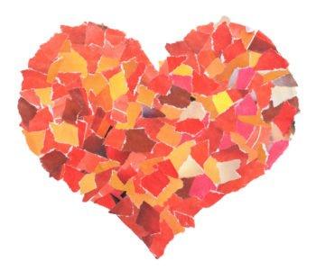 Laurka – serce z papieru – wydzieranka