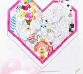 kolorowanka gigant z sercem