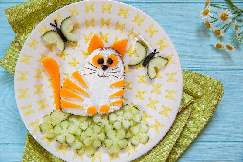 przepis na kanapkę wiosenny kotek