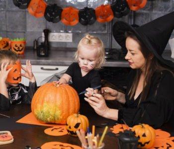 dekoracje na Halloween dla dzieci diy