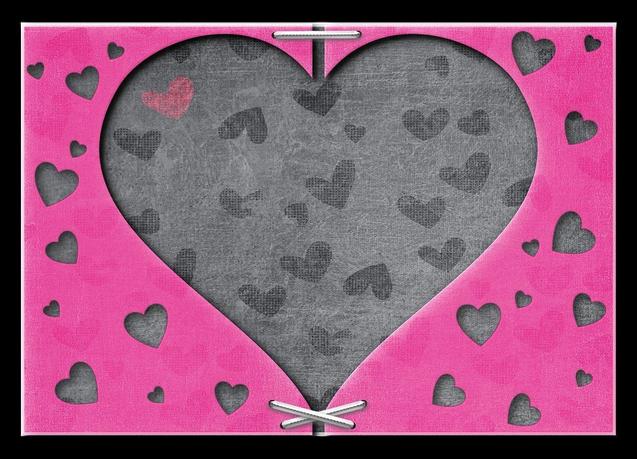 kartka walentynkowa z sercem