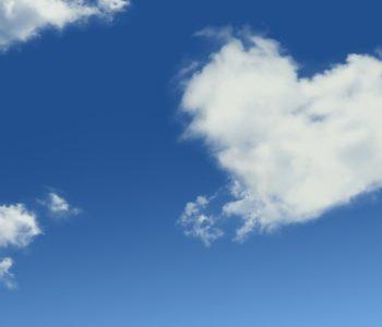 chmura w kształcie serca