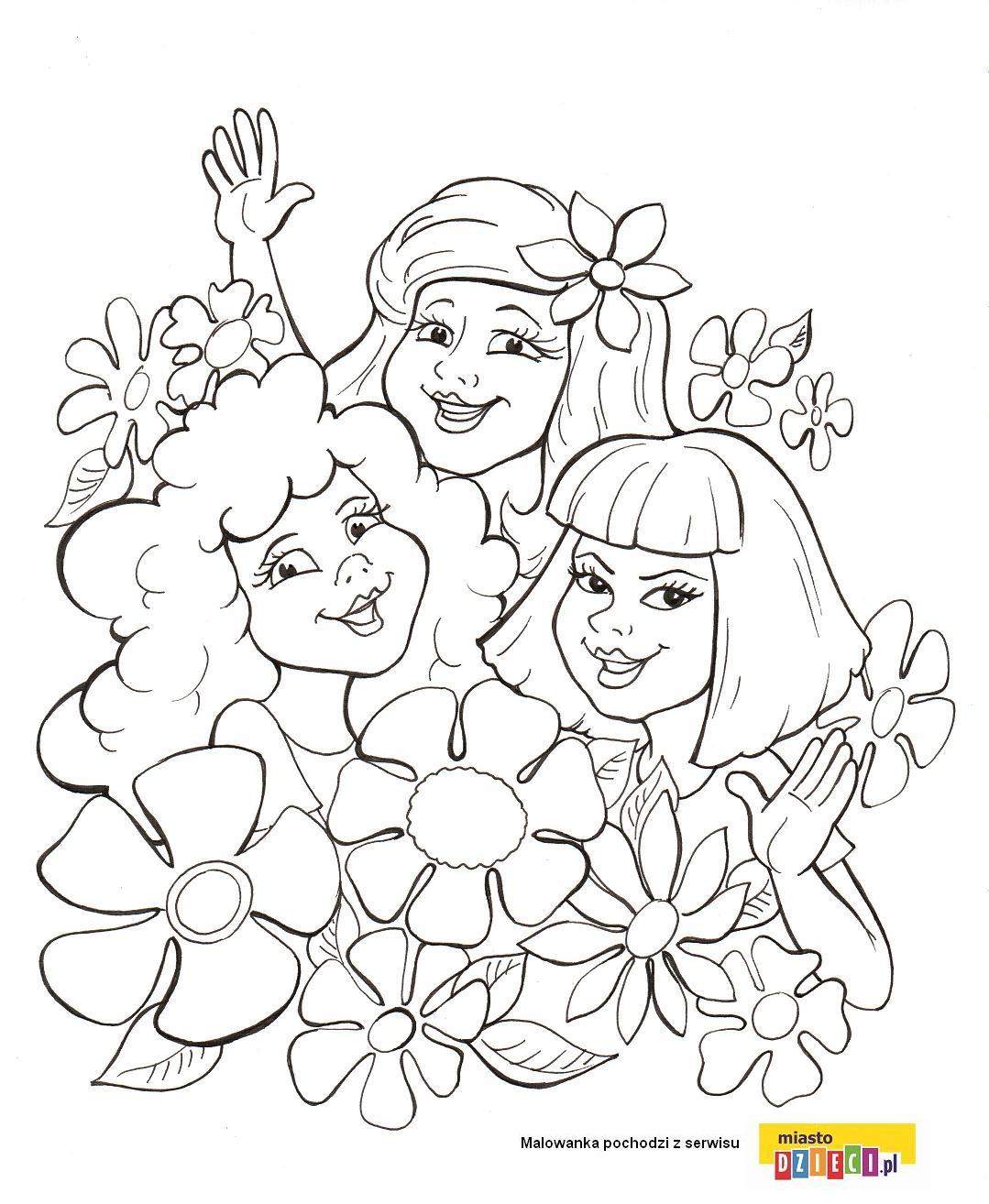 Dzień Kobiet - kobiety w kwiatach