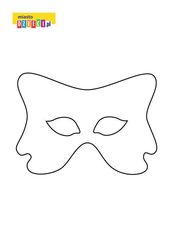 darmowy szablon maski do druku