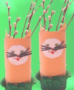 Wiosenne dekoracje z dziećmi