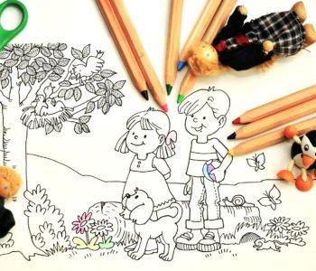 Wiosenne kolorowanki dla dzieci do druku