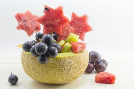 przepis na sałatkę z arbuzem i melonem