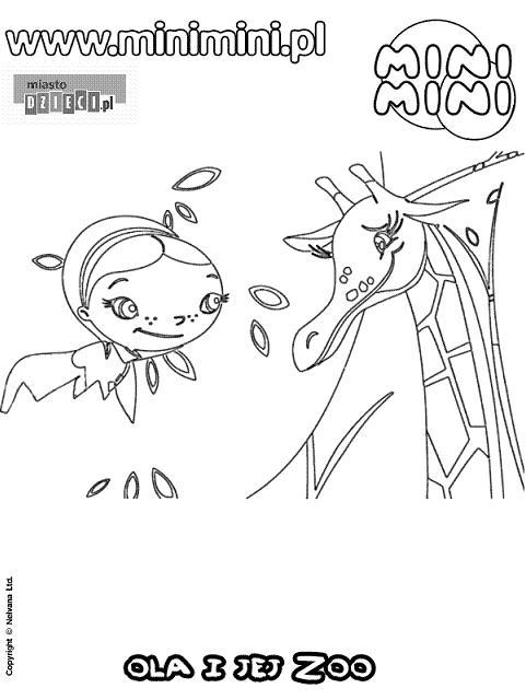 Ola i jej zoo - kolorowanki mini mini