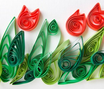 Wiosenne tulipany – quilling