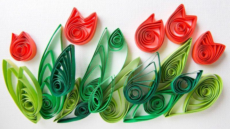 kwiatki quilling zabawy plastyczne dla dzieci