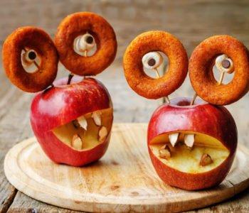 Przepis na straszne stwory z jabłek i donatów