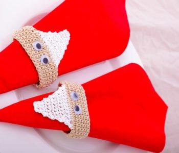 Serwetniki Mikołaje na Boże Narodzenie