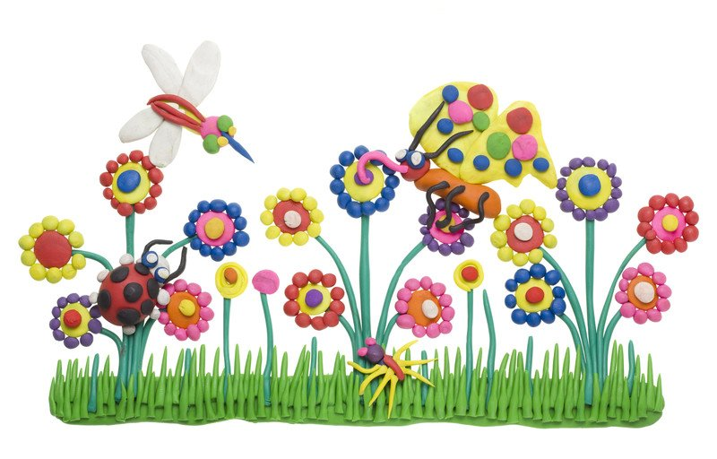 Obrazek z plasteliny zabawy plastyczne dla dzieci