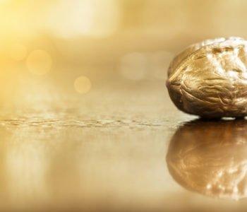 Złoty orzech na choinkę
