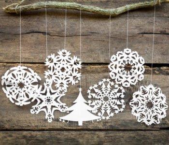 Karnawałowe gwiazdki – płatki śniegu. Wycinanki z papieru.