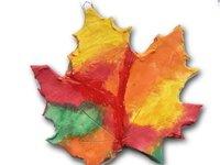 gliniana zawieszka - jesienna zabawa dla dzieci