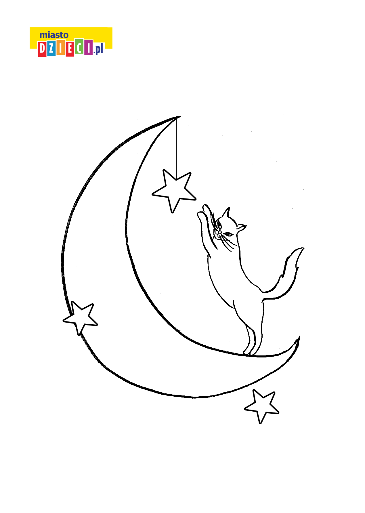 kotek na księżycu