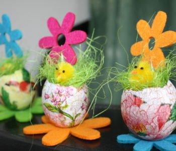 Ozdobne jajka decoupage na Wielkanoc