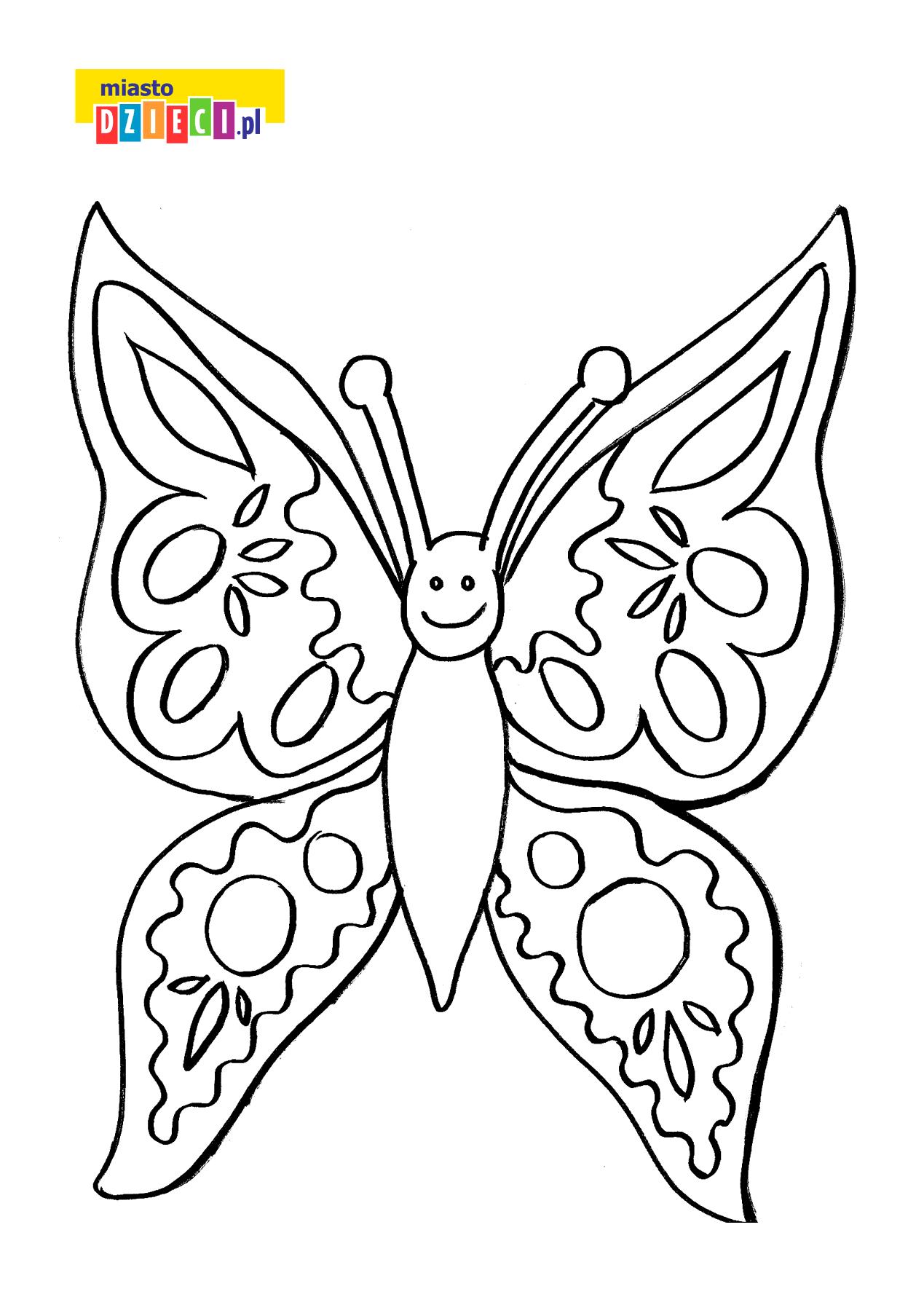 motylek - kolorowanka dla dzieci