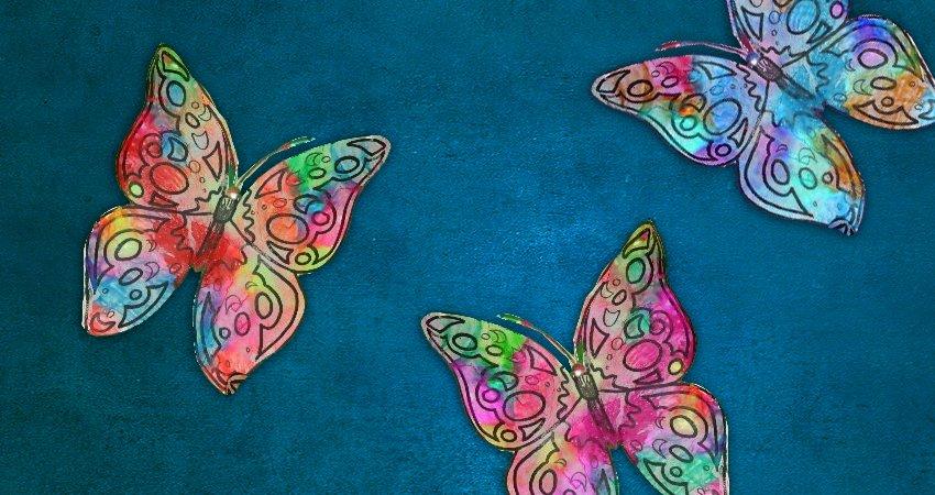 motyle - zabawa plastyczna
