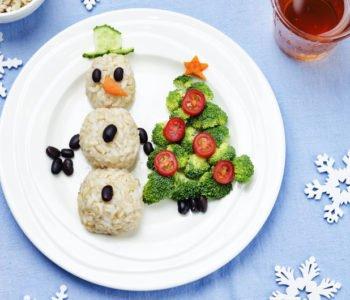 Przepis na zabawny świąteczny obiad z bałwankiem