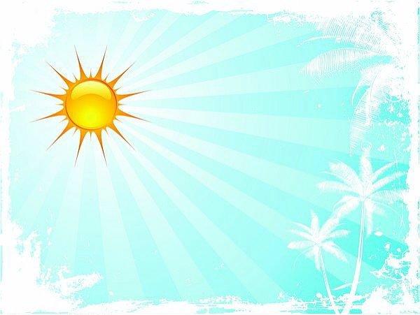 słońce na tle błękitnego nieba