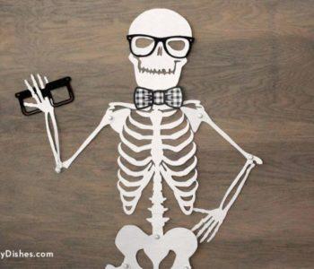 Szkielet, kościotrup – duży szablon do wydruku