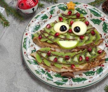 Choinka z naleśników i owoców jak zrobić dla dziecka