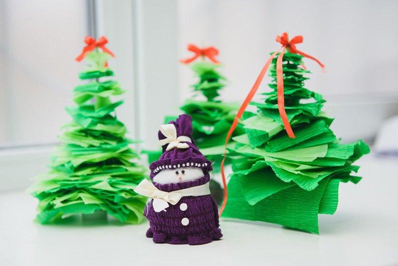 Choinki z bibuły jak zrobić, zabawy świąteczne dla dzieci