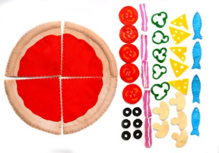 pizza z filcu zabawy dla dzieci