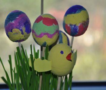 Styropianowe jajka – ozdoby wielkanocne