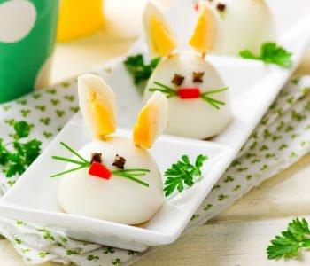 Wielkanocne zajączki z jajek – przepis