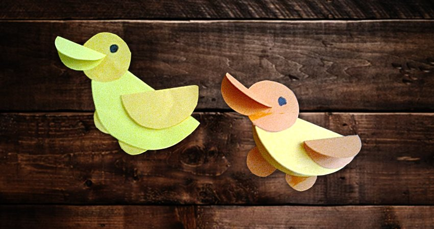 kaczuszki z kółek - zabawa plastyczna dla maluchów