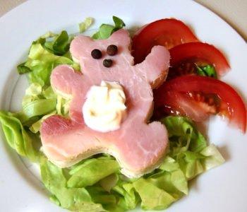 Przepis na wesołą kanapkę – miś