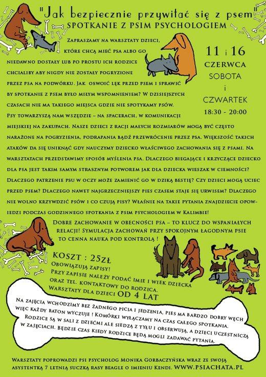 spotkanie z psim psychologiem dla dzieci od 4 lat