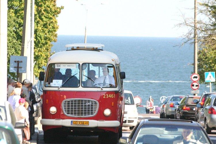 zabytkowy autobus w Gdańsku