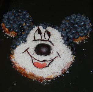 przepis na biszkoptowy placek Słodkie-Myszki-Miki