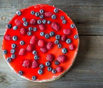 przepis na sernik z owocami i galarekta