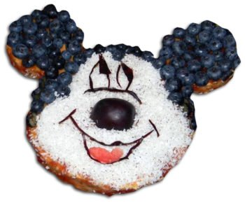 Przepis na biszkoptowy placek – tort – słodką Myszkę Miki