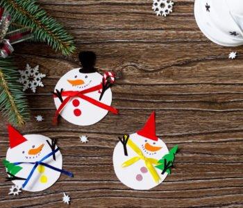 Zimowe bałwanki – Mikołaje z papieru