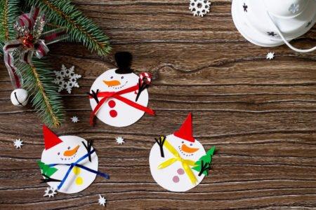 Jak zrobić zimowe i świąteczne bałwanki z papieru DIY dla dzieci