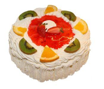 Przepis na biszkoptowy tort hiszpański z owocami