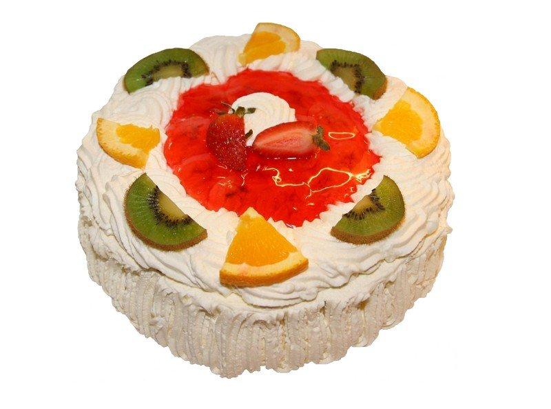 przepis na biszkoptowy tort z owocami