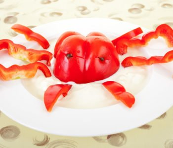 Wegetariański lobster czyli homar z dipem twarożkowym