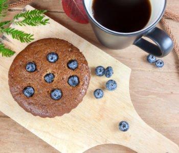 Przepis na kawowe muffinki z jagodami