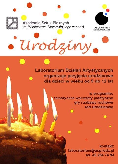 Warsztaty urodzinowe w Laboratorium Działań Artystycznych
