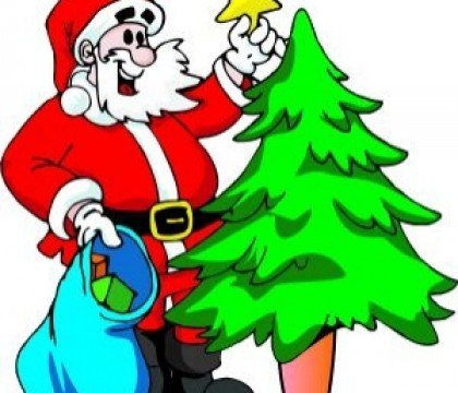 Mikołaj z choinką