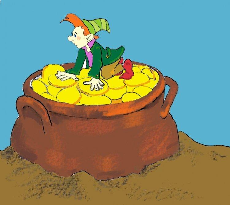 skrzat i worek ze złotem, wierszyk dla dzieci